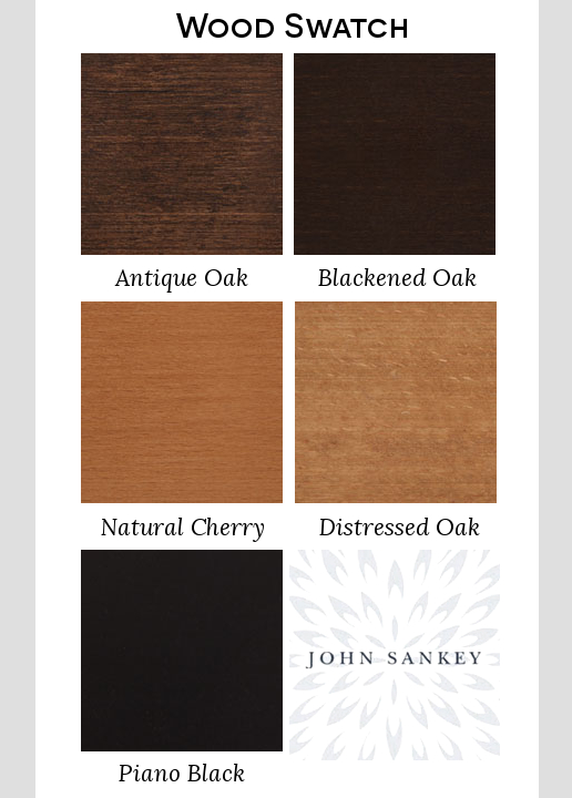 John Sankey Upholstery Foot Colours Wood Swatch