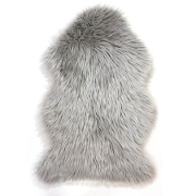 Flair Rugs Faux Fur Grey