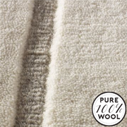 """Jacaranda Carpets Velvet Stripe Ivory and Grey 16, from Kings Interiors - the ideal place to buy Furniture and Flooring. Call Today - 01158258347."""