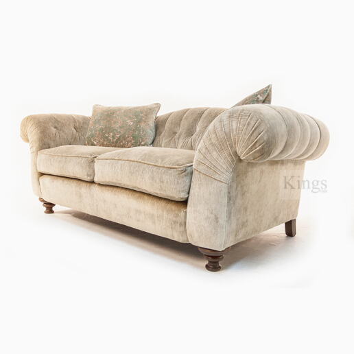 John Sankey Bloomsbury Large Sofa in Borghese Velvet Fabric 2
