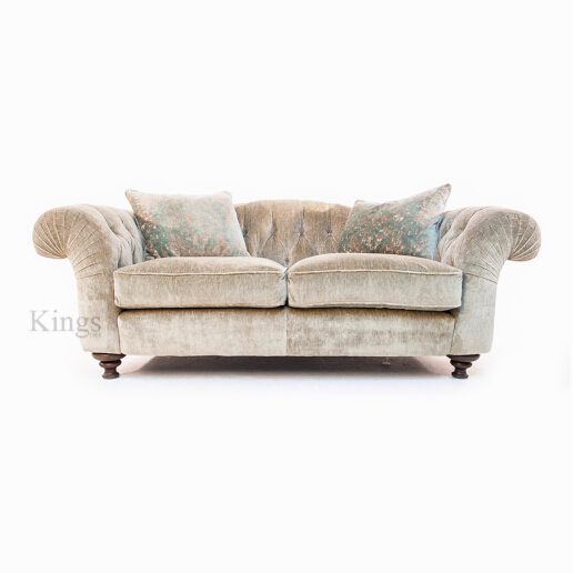 John Sankey Bloomsbury Large Sofa in Borghese Velvet Fabric