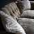 John Sankey Bloomsbury Large Sofa in Borghese Velvet Sand Fabric Detail