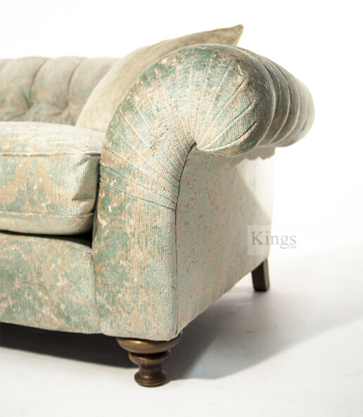 John Sankey Bloomsbury Large Sofa in Tribus Turqioise Fabric 2