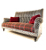 Johm Sankey Holkham Large Sofa in Delanty Velvet Silver Fabric with Cello Pimpernel Seat Cushions