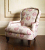 John Sankey Alphonse Chair in Antiquity Heather Fabrics with Studding
