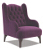 John Sankey Buckingham Wing Chair in Tate Velvet Fabric