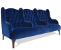 John Sankey Buckingham Three Seater Large Sofa in Blue Velvet Fabric