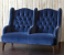 John Sankey Buckingham Two Seater Snuggler in Borghese Velvet Fabric