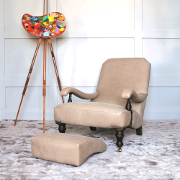 John Sankey Byron Chaise Chair from Kings Interiors - the Ideal Place for Luxury Handmade British Upholstery, Furniture and Flooring. Best Price in UK