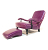 John Sankey Byron Chaise Chair and Foot Stool in Schiaparelli Cyclamen Leather