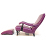 John Sankey Byron Chaise Chair and Foot Stool in Schiaparelli Cyclamen Leather side