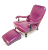 John Sankey Byron Chaise Chair and Footstool in Schiaparelli Cyclamen Full Grain Leather