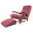John Sankey Byron Chaise Chair and Gout Foot Stool in Burgandy Stripe Fabric