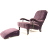 John Sankey Byron Chaise Chair with Foot Stool in Borghese Velvet Fabric