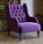John Sankey Constantine Chair in Tate Velvet Blackberry Fabric