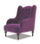 John Sankey Constantine Wing Chair in Tate Velvet Fabric
