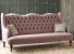 John Sankey Constantine Large Sofa in Tate Velvet Old Rose Fabric