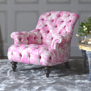 John Sankey Crinoline Chair from Kings Interiors - the Ideal Place for Luxury Handmade British Upholstery, Furniture and Flooring, Best Prices in the UK.