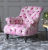 John Sankey Crinoline Chair in Bizet Hot Pink Fabric