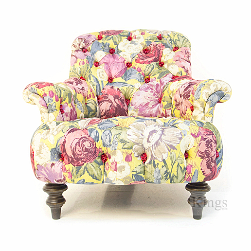 John Sankey Crinoline Chair in Loseley Park Lime Fabric Front