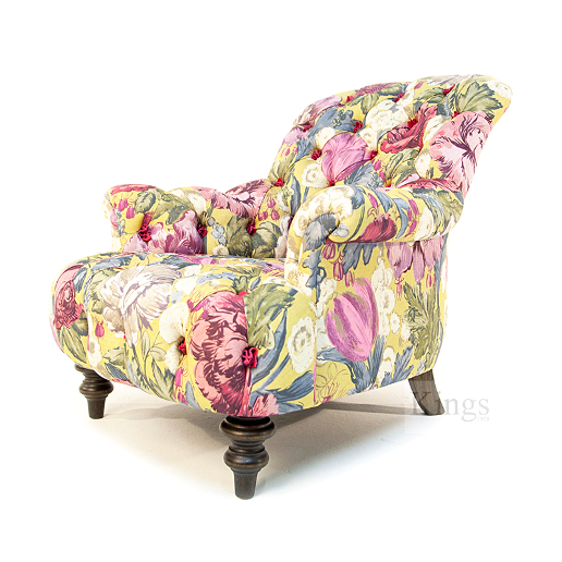 John Sankey Crinoline Chair in Loseley Park Lime Fabric