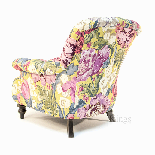 John Sankey Crinoline Chair in Loseley Park Lime Fabric Back