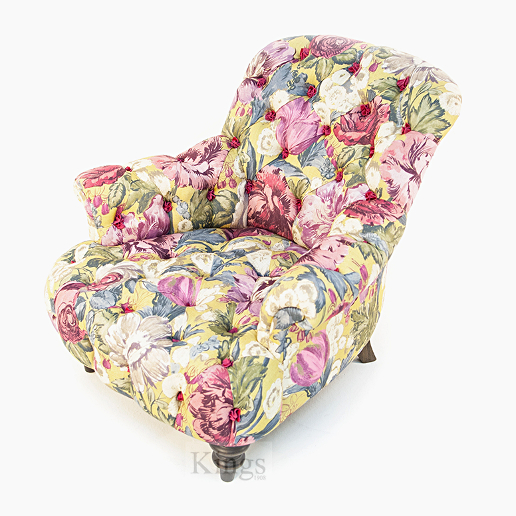 John Sankey Crinoline Chair in Loseley Park Lime Fabric Top