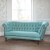 John Sankey Evita Grand Sofa in Vintage Linen Aqua Fabric