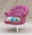 John Sankey Ferdinand Chair in Monty Cyclamen Fabric