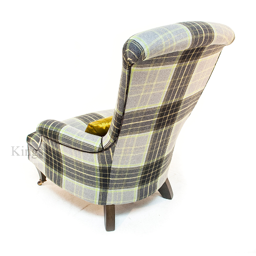John Sankey Hawthorne Chair in Cello Lime Wool Fabric