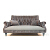 John Sankey Holkham Large Sofa in Renishaw Coal Fabric with Linen Fabric Seat Cushions