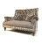 John Sankey Holkham Small Sofa in Shadows Mouse with Linen Fabric Seat Cushions