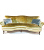 John Sankey Matilda Sofa in Ava Velvet Green Gold Fabric