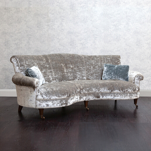 John Sankey Matilda Sofa in Ava Velvet Old White Fabric