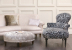 John Sankey Matilda Sofa in Monty Shell Fabric with Clara Chaise Roomset
