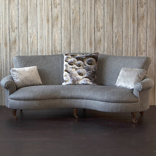 John Sankey Matilda Sofa in Verona Jade Fabric with Decorative Cushions