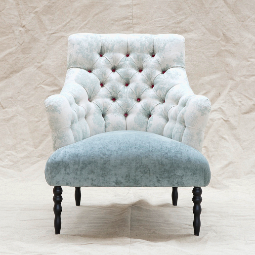 John Sankey Milliner Chair in Bizet Haze Fabric