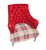 John Sankey Milliner Chair in Red Velvet and Wool Fabrics