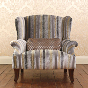 John Sankey Moliere Wing Chair from Kings Interiors - the Ideal Place for Luxury Handmade British Upholstery, Furniture and Flooring, Best Prices in the UK.