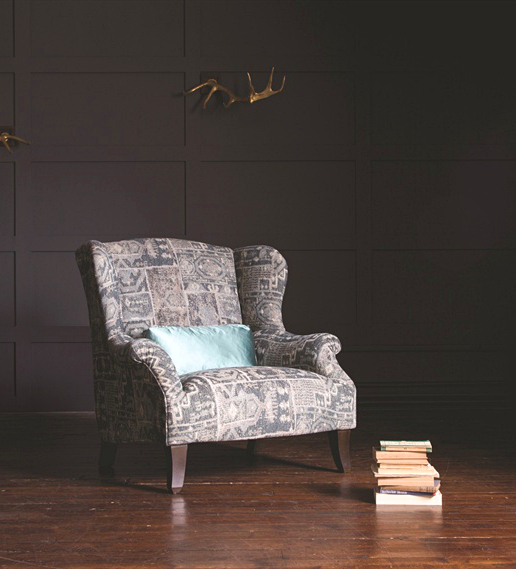 John Sankey Moliere Wing Chair in Marla Butterscotch Fabric