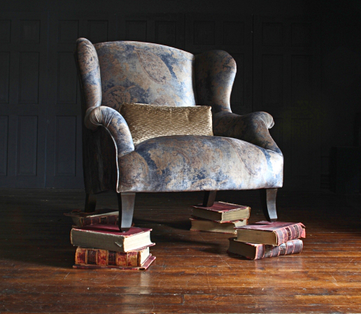 John Sankey Moliere Wing Chair in Pavlova Stardust Fabric