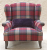 John Sankey Moliere Wing Chair in Viola Hunting Red Wool Fabric