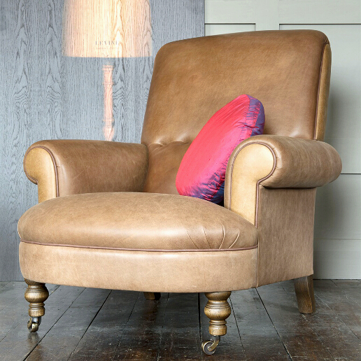 John Sankey Partridge Chair in Horatio Leather Roomset