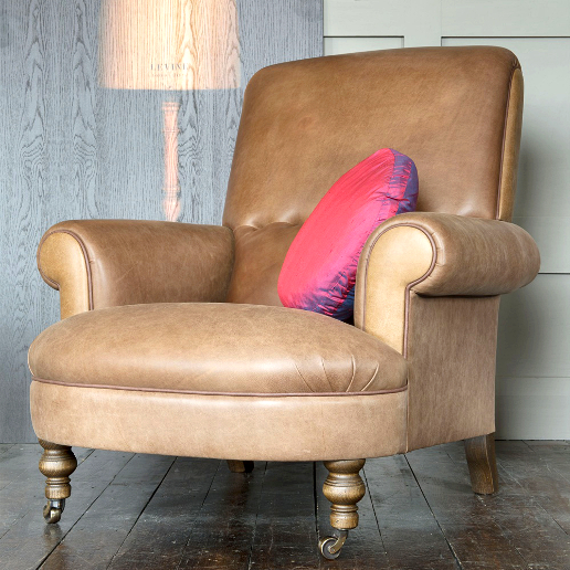 John Sankey Partridge Chair in Horatio Toffee Leather