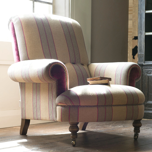 John Sankey Partridge Chair in Landscape Hero Fabric