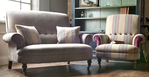 John Sankey Partridge Sofa and Chair Landscape Hero Roomset