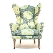 John Sankey Rickman Chair in Tapestry Rose Lemon Sherbet Fabric