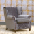 John Sankey Tolstoy Chair in Borghese Velvet Stardust Fabric with Studs