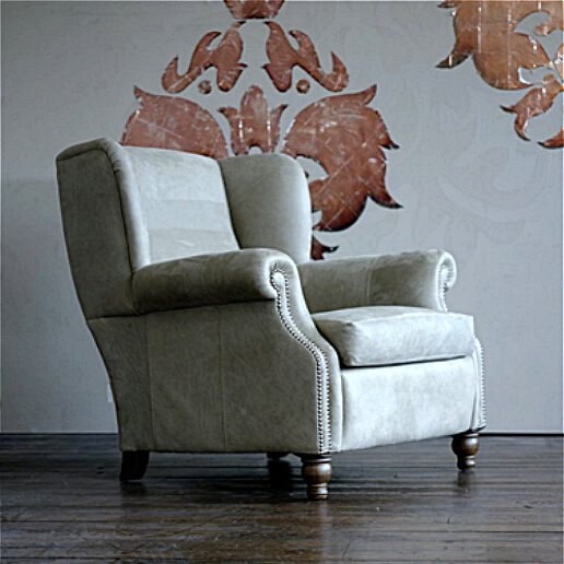 John Sankey Tolstoy Chair in Full Leather