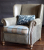 John Sankey Tolstoy Chair in Full Leather with Fabric Seat and Velvet Cushion